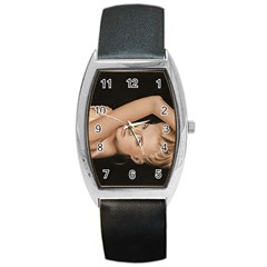 Alluring Tonneau Leather Watch
