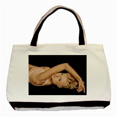 Alluring Twin-sided Black Tote Bag