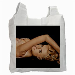 Alluring White Reusable Bag (Two Sides)
