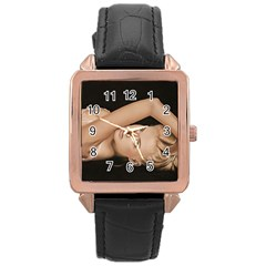 Alluring Rose Gold Leather Watch