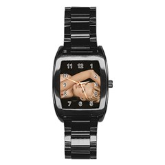 Alluring Stainless Steel Barrel Watch