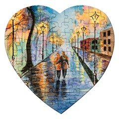 Just The Two Of Us Jigsaw Puzzle (heart) by TonyaButcher