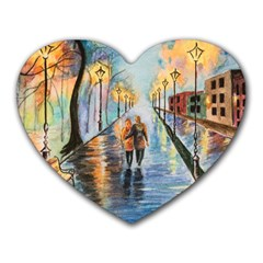 Just The Two Of Us Mouse Pad (heart) by TonyaButcher