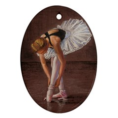 Ballerina Oval Ornament (two Sides)