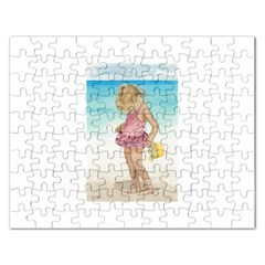 Beach Play Sm Jigsaw Puzzle (rectangle) by TonyaButcher