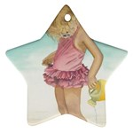 Beach Play Sm Star Ornament (Two Sides) Back