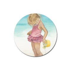 Beach Play Sm Magnet 3  (round) by TonyaButcher