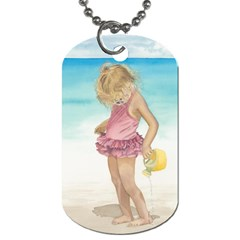 Beach Play Sm Dog Tag (two Sided)  by TonyaButcher