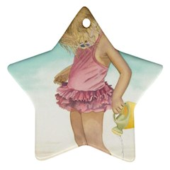 Beach Play Sm Star Ornament (two Sides) by TonyaButcher