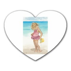 Beach Play Sm Mouse Pad (heart) by TonyaButcher