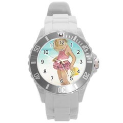 Beach Play Sm Plastic Sport Watch (large) by TonyaButcher