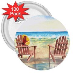 Time To Relax 3  Button (100 Pack)