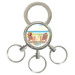 Time To Relax 3 Ring Key Chain by TonyaButcher