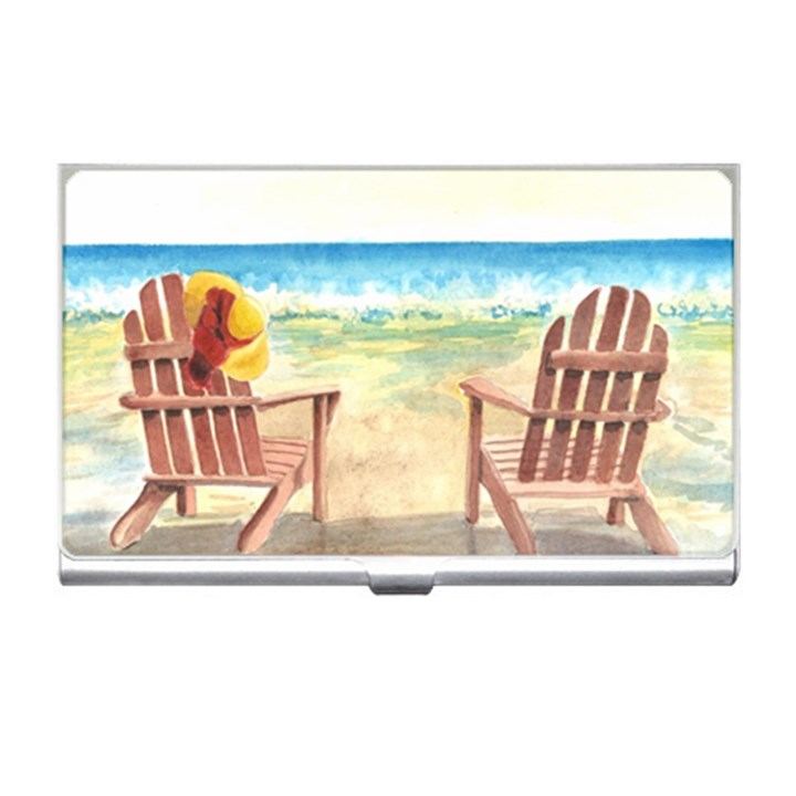 Time To Relax Business Card Holder
