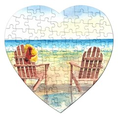 Time To Relax Jigsaw Puzzle (heart) by TonyaButcher