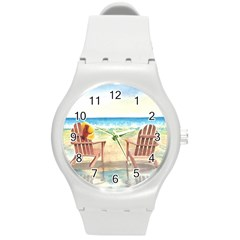 Time To Relax Plastic Sport Watch (medium) by TonyaButcher