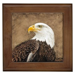 Eagle Framed Ceramic Tile
