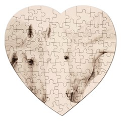 Tender Approach  Jigsaw Puzzle (heart) by TonyaButcher