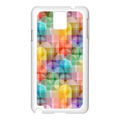 Circles Samsung Galaxy Note 3 N9005 Case (white) by Lalita