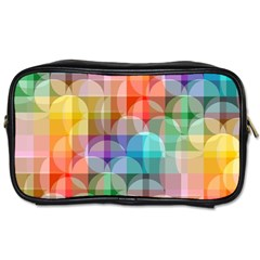Circles Travel Toiletry Bag (one Side) by Lalita