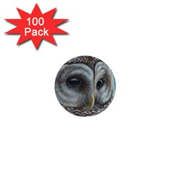 Barred Owl 1  Mini Button Magnet (100 Pack) by TonyaButcher