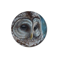Barred Owl Drink Coaster (round) by TonyaButcher