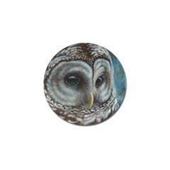 Barred Owl Golf Ball Marker