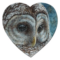 Barred Owl Jigsaw Puzzle (heart) by TonyaButcher