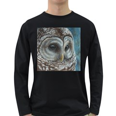 Barred Owl Men s Long Sleeve T Shirt (dark Colored)