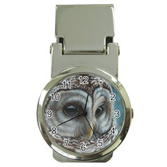 Barred Owl Money Clip With Watch