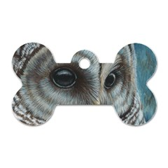 Barred Owl Dog Tag Bone (two Sided) by TonyaButcher