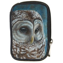 Barred Owl Compact Camera Leather Case