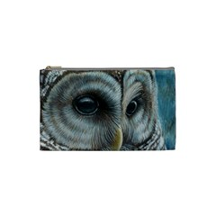 Barred Owl Cosmetic Bag (small) by TonyaButcher