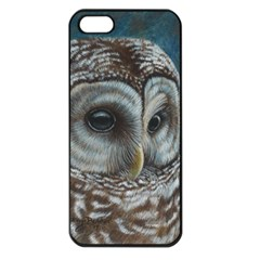Barred Owl Apple Iphone 5 Seamless Case (black) by TonyaButcher