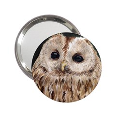 Tawny Owl Handbag Mirror (2 25 ) by TonyaButcher