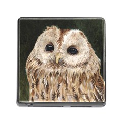 Tawny Owl Memory Card Reader With Storage (square) by TonyaButcher