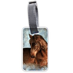 Midnight Jewel  Luggage Tag (two Sides) by TonyaButcher