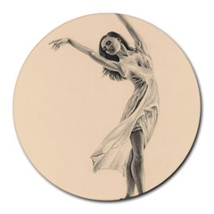 Graceful Dancer 8  Mouse Pad (round) by TonyaButcher