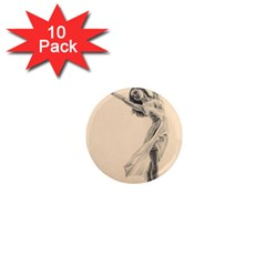 Graceful Dancer 1  Mini Button Magnet (10 Pack)
