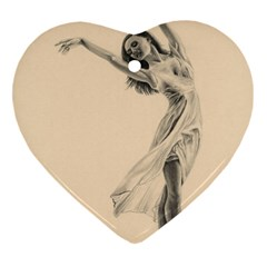 Graceful Dancer Heart Ornament (two Sides) by TonyaButcher