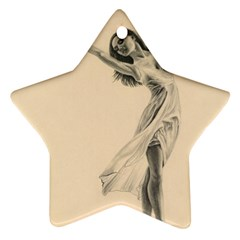 Graceful Dancer Star Ornament (two Sides) by TonyaButcher