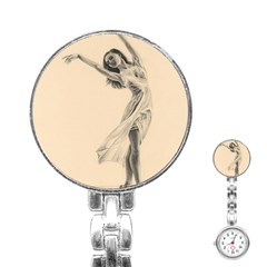 Graceful Dancer Stainless Steel Nurses Watch by TonyaButcher