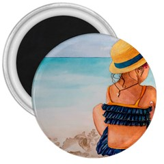A Day At The Beach 3  Button Magnet by TonyaButcher