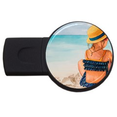 A Day At The Beach 4gb Usb Flash Drive (round) by TonyaButcher