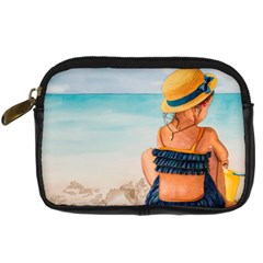 A Day At The Beach Digital Camera Leather Case