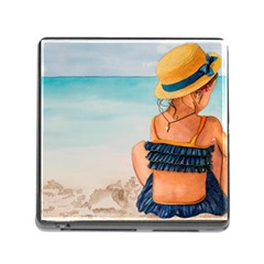 A Day At The Beach Memory Card Reader With Storage (square) by TonyaButcher