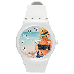 A Day At The Beach Plastic Sport Watch (medium) by TonyaButcher