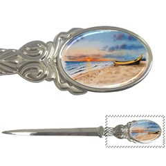 Sunset Beach Watercolor Letter Opener by TonyaButcher