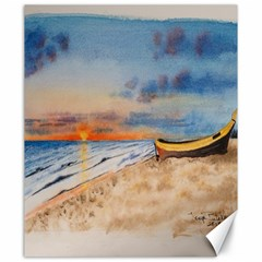 Sunset Beach Watercolor Canvas 20  X 24  (unframed)