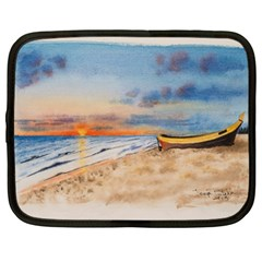 Sunset Beach Watercolor Netbook Sleeve (large) by TonyaButcher